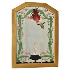 Vintage Hand Painted Mirror by Space Artist Chesley Knight Bonestell c.1930