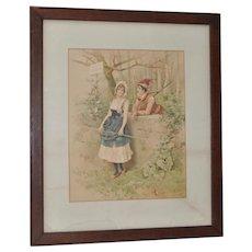 19th C. Romance Print