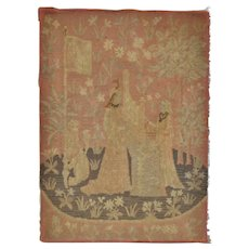 Victorian English Embroidered Tapestry