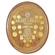 """Grand Prix Medals """"Maison Paul Raguet"""" Paris to Cairo c.1929"""