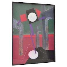 Henry ELINSON (Russian) Original Pastel c.1990
