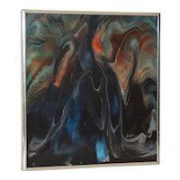 Vintage Mid Modern Resin on Panel by Nicholas Mirandon c.1979