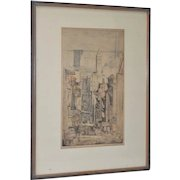 "Max Pollak (1886-1970) ""San Francisco Landmarks"" Etching with Aquatint c.1940's"