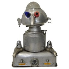 1950s Aluminum Robot Sculpture by James Bauer