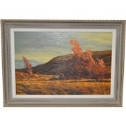 "Robert Knudson ""Golden Afternoon"" Original Oil on Canvas c.1970s"