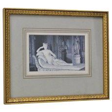 Vintage Framed Print of Paolina Bonaparte Napoleon's Sister