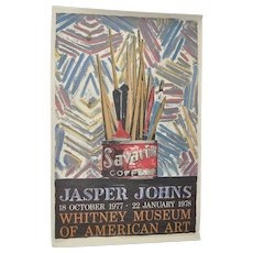 Jasper JOHNS Exhibition Poster c.1978