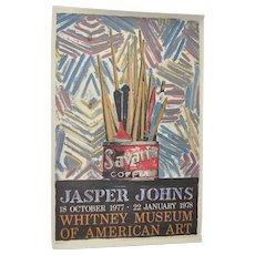 Jasper JOHNS Exhibition Poster c.1978