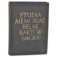 Studia Memoriae Béla Bartók  c.1958 Signed by Paul Robeson (personal copy) *RARE*