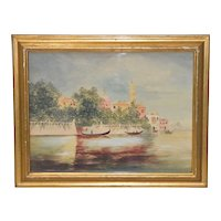 Venice, Italy - Grand Canal c.1930s to 1940s - Original Painting