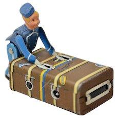 """Vintage Gescha Clockwork """"Bell Boy"""" Toy c.1930s"""