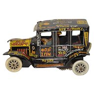 """Marx Wind-Up """"Old Jalopy"""" Vintage Tin Toy w/ Lithograph c.1950s"""