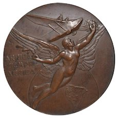 "Pan-American Conference at Lima Bronze Medallion ""Arriba Siempre Arriba"" c.1937"