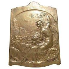 Constitution BELGE 1831 Bronze Plaque c.1918