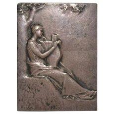 Rare Bronze Plaque by Frederic Charles Victor de Vernon c.1890s