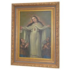 Spanish Colonial Oil Painting Early 20th C.