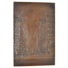 Wm. S. Hedges Bronze Plaque c.1923