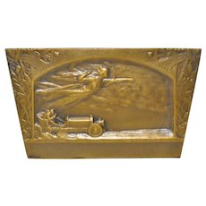 Alexandre Pierre Morlon (1878-1951) French Bronze Plaque c.1910