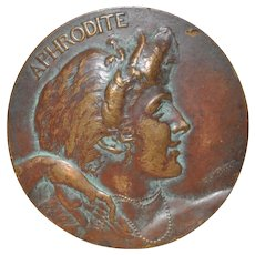 Bronze Medal Relief of Aphrodite by John Flanagan c.1932