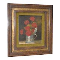 Geoffrey Lewis (1928-2005) Still Life w/ Flowers c.1964