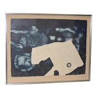 "Antoni Clavé ""Signes et ficelle"" Carborundum Etching w/ Aquatint c.1970"