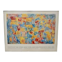 """Jasper Johns """"Poets of the Cities: New York and San Francisco"""" Exhibition Poster c.1974"""