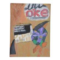 "Arthur J. Krakower (1921-2009) ""Cola"" Original Oil on Canvas c.1998"