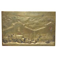 Opening of the Central Municipal Garage of Buenos Aires Bronze Plaque c.1926