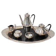 Reed & Barton, Denmark - Danish Modern Silver Plate Tea & Coffee Service c.1960