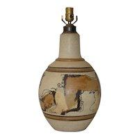 Wishon-Harrell Glazed Stoneware Table Lamp c.1960s
