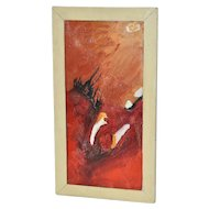 Vintage 1950's Abstract Painting by Renata McLean