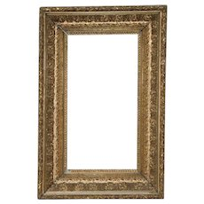 Late 19th Century Carved, Gesso & Gilded Frame c.1890s