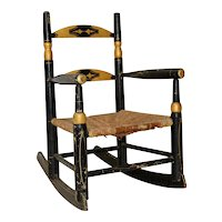 Antique Doll Rocking Chair c.1890s