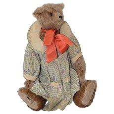 Bear Witness Stuffed Teddy Bear by Louise Clinton c.1990s
