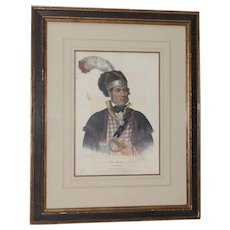 Mc Intosh A Creek Chief Hand Colored Lithograph by Lehman & Duval c.1836