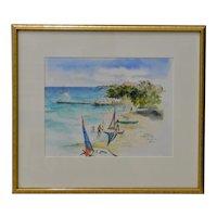 "Betty Guy ""Jamaica"" Watercolor Painting c.1993"