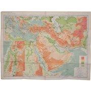 Near & Middle East Map by G.W. Bacon & Co. LTD, London c.1880
