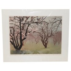 """Stephen McMillan """"Early Spring #2"""" Drypoint Etching w/ Aquatint c.1988"""
