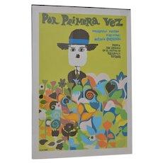 """Por Primera Vez"" (For the First Time) Vintage Documentary Movie Poster c.1968"