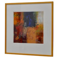 Modernist Abstract Oil Painting by Mystery Artist