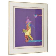 """John Nieto (b.1936) """"Indian Drum Dancer"""" Original Serigraph Signed and Numbered c.1990"""