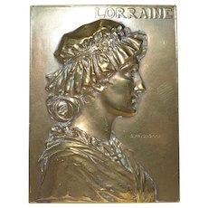 Georges Prud'Homme Bronze Plaque c.1900