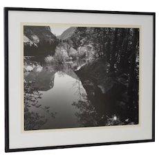Robert Werling Merced River Yosemite California Black & White Silver Gelatin Photograph