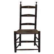 19th Century Ladderback Chair