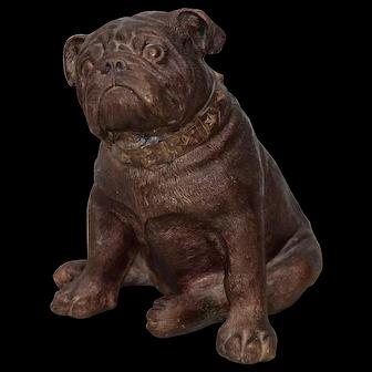 Brass Bulldog Sculpture