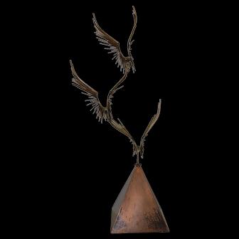 "Curtis Jere ""Birds in Flight"" Bronze Sculpture c.1976"