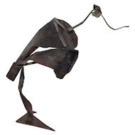 Vintage Figural Abstract Metal Sculpture by Dannenfelser c.1980