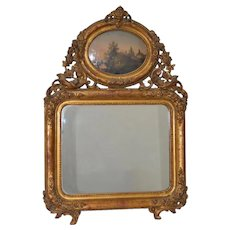 Early 19th Century Painted & Gilt Frame Mirror