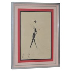 Vintage Art Deco Fashion Original Illustration by Gesmar c.1925