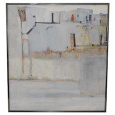 "Albert Clymer ""Southwest Pueblo"" Original Acrylic Painting c.1991"